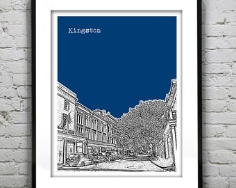 Kingston Skyline Poster Art Print New York NY Version 1
