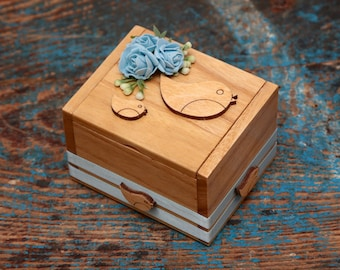 Ring bearer box personalised robin theme
