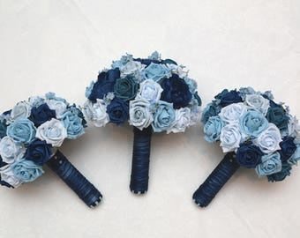 Wedding artificial  flower bouquets forget me not collection