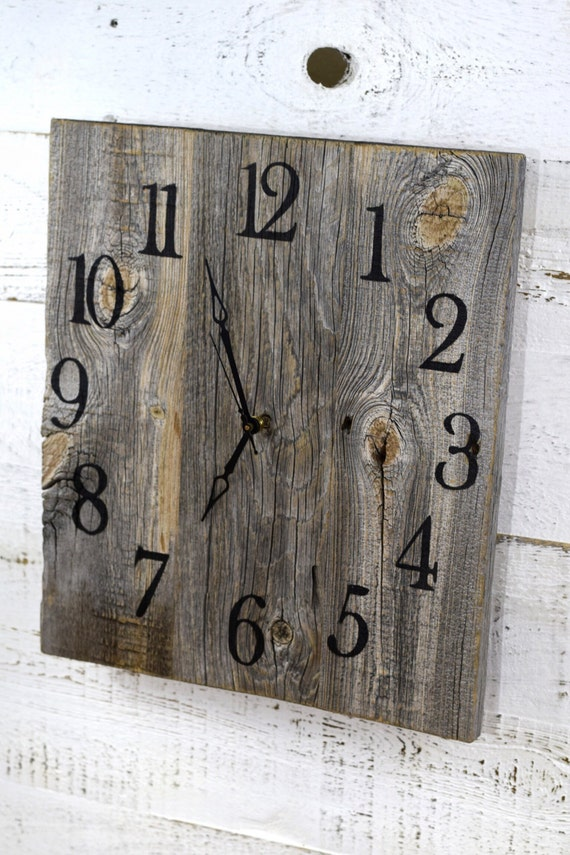 Rustic Barn Wood Wall Clock, Reclaimed Wood Clock, Large Wall Clock,  Christmas Gift - Rustic Barn Wood Wall Clock Reclaimed Wood Clock Large Wall