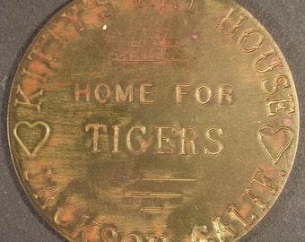 Vintage Fantasy Brothel Brass Token #142  Kitty's Cat House, Jackson, Cal.