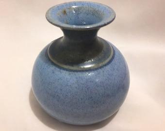 Louis Mulcahy Ireland Pale Blue Posy Jar / Vase / Irish Pottery / Irish Posy Vase / Blue Potterty Vase