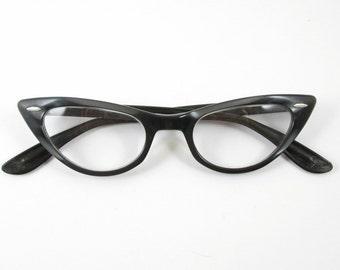 Cat Eye Glasses Vintage Bausch & Lomb Frames Vintage Eyewear Mid Century