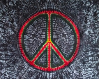 Tie Dye Peace Sign Tapestry!
