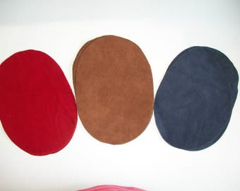 Real Deerskin Suede Leather Elbow Patch Kit - 3 colors to choose - 7''by5'' - Made in the USA