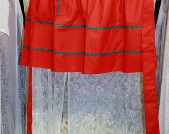 Homemade Red Apron 24″ Front
