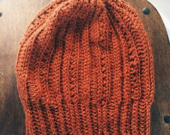 Pumpkin Slouchy Hat/Beanie for women