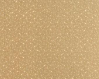 Moda Polka Dots Paisleys Tan Cream  Paisley and Dot Fabric 14804-23 BTY