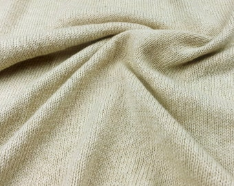 Color Grown Cotton Light Green Jersey (by the half yard)