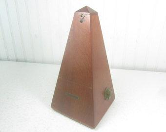 Metronome, Seth Thomas Metronome, Pyramid Box, Musical Instrument, #7 Metronome, Rhythm, Music Timer, Hand Wind, 1950s