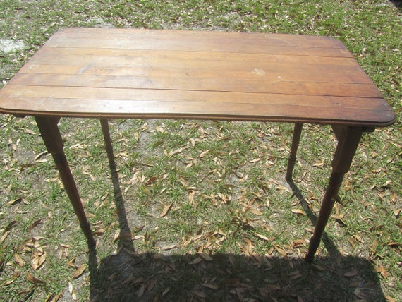 Superior Antique Folding Sewing Table, New Simplicity Folding Table, Pat June 10  1884, W E Eldred U0026 Co, 383 Pearl St New York USA, Farmhouse Decor