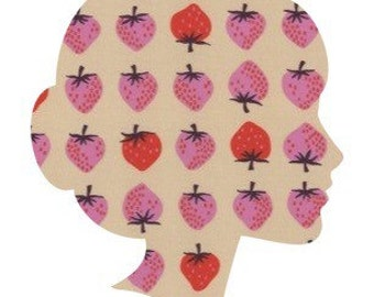 STRAWBERRIES Lucy & Mabs Reusable pad or pantyliner / Made to Order