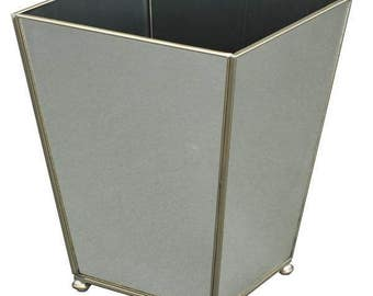 New Mirror Metal and Glass Waste Bin