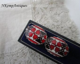 Vintage glass cufflinks