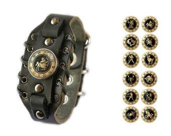 Men's Zodiac Bracelet - Choose your personal Astrological Horoscope Star Sign Constellation