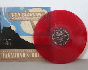 Don Blanding Poetry LP Record c1950s