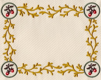 Brambles and Berries Machined Embroidered Made-to-Order Quilt Label