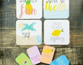 Soak Up The Sun - Quote Journal Cards by Lavish Paper Co. | Great for Planners, Scrapbooking or Journaling | Pocket Letters, Girl, Her