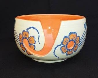 Yarn Bowl Floral Henna Design