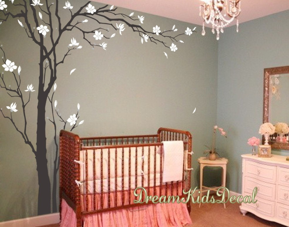 Cherry blossom tree wall decals wall sticker living room wall for Cherry blossom tree wall mural