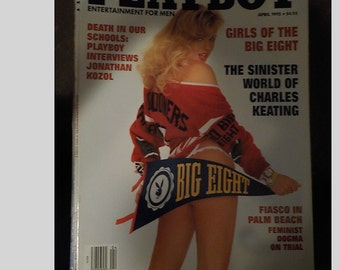 Playboy Entertainment Magazine For Men April 1992 Girls Of The Big Eight Issue