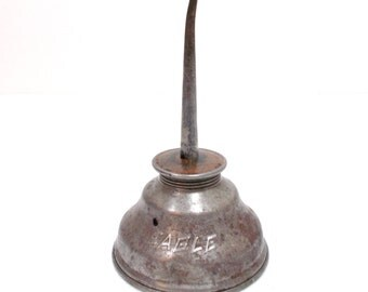 Eagle Oil Can /  Eagle Pump Oiler / Thumb Pump Oiler / Oil Can / Metal Oil Can / Gearhead / Automotive /Garage