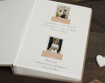 Rustic Vintage Lace Wedding Guestbook - Brown Instax Guest Book - Country Club Wedding Album - Guestbook for Instax Mini -  by Liumy