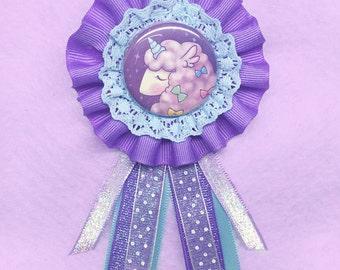 AlpacaCorn Rosette Badge