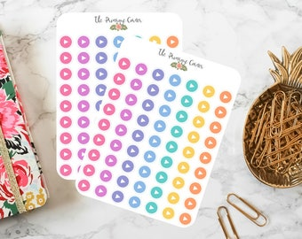 Social Media Planner Stickers - Social Media Icon Stickers - Rainbow Stickers