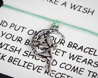 Fairy In The Moon Wish Charm Bracelet