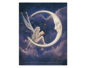 The Story Fairy 11x14 inch fairy art poster by David Delamare