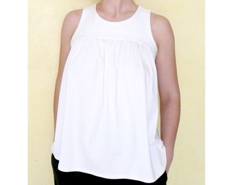 PDF Sewing Pattern Women's Sleeveless Jersey Top (sizes XS-XXL) n.9