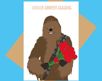 Star Wars   Chew Love   Chewbacca   Funny Valentines Card   Love
