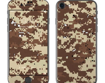 Digital Desert Camo - iPhone 7/7 Plus Skin - Sticker Decal