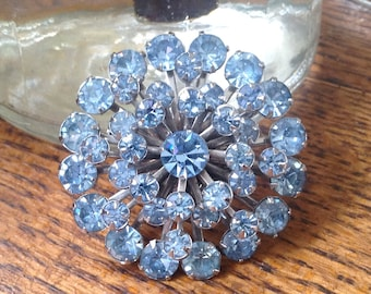 LightBlue crystal costume pin