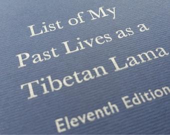 Tibetan - Large Funny Letterpress Journal, Jotter, Cahier, Moleskine - A5 Ruled Notebook