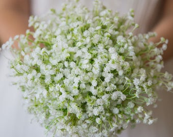 Babys breath Gypsophila wedding bridal, bridesmaid, flower girl bouquet