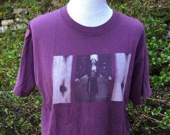 Tori Amos T-shirt // 90's // To venus and back // Purple // Large // XL // Womens // Rock // Alt // Distressed