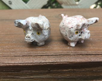 Carved Pig Figurine