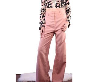 Vintage 70s Sweet Stuff Wide Leg Dusty Pink Pants
