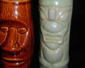 Pair of Tiki Vases