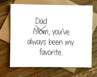 Father's Day Card - Fathers Day Card - Card for Dad - You're My Favorite.