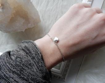 Silver Heart Bracelet | Dainty Bracelet Silver Bracelet Tiny Heart Bracelet Dainty Silver Bracelet Delicate Heart Bracelet Heart Charm
