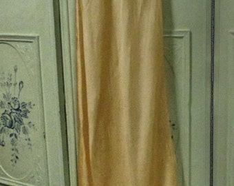 1930's Peach Silk Gown, Bust 34""
