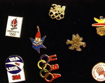 1992 3M Worldwide Sponsor 1992 Olympic Games, 8 Pins orginal box