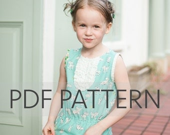Charlotte PDF, child's blouse pdf, sewing pattern, top pattern, girl dress pdf, girl pdf, girl dress pattern, pdf patterns, girl blouse pdf