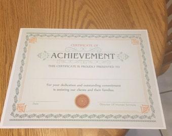 Personalized Achievement Certificate