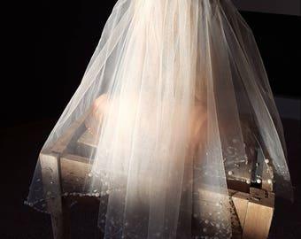 Beaded Vintage Wedding Veil