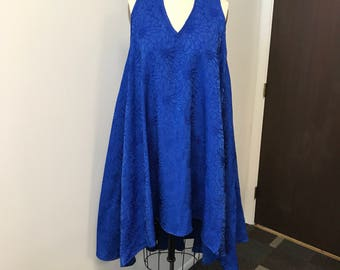 LaLove Designs Royal Blue Halter Swing Dress with Low Back
