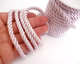 5 mm Light Pink Braided Silk Cord_PP01244557454_ BRAIDED/ Pink Cord_of 5 mm_Sales by yards